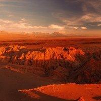 Чилийские закаты...Панорама из 5 горизонтальных кадров! :: Александр Вивчарик