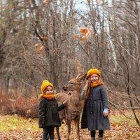 Прогулка с олененком :: Фотограф Ирина Белянина