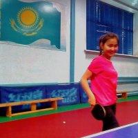 Жанар,новая звёздочка настольного тенниса. :: Хлопонин Андрей Хлопонин Андрей