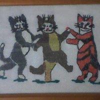 """Моя вышивка крестиком """"Веселые котята"""". :: Светлана Калмыкова"""