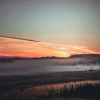 Закат, туман :: Андрей