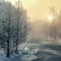 """...и речка подо льдом блестит"" :: Нина Богданова"