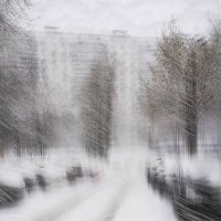 метель в городе :: Viacheslav Krasnoperov