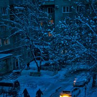 Вечером синим... :: Людмила Фил