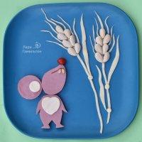 Такой мышкой можно оформить любой праздничный салат. :: Лара Гамильтон