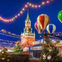 Новогодняя Спасская башня :: Юлия Батурина