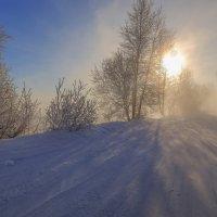 Морозное утро на Ангаре. :: Rafael