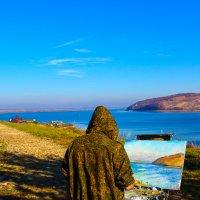 Пейзаж на фоне портрета :: Сергей Осин