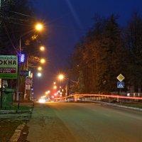 Кашира ночная. Улица Советская. :: Евгений Чернявский