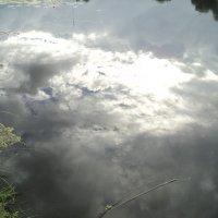 Моя Прекрасная Россия! Облака в реке. :: Ольга Кривых