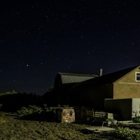 Ночной пейзаж с Большой Медведицей :: Константин Бобинский