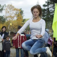 Прыгунья через нарты :: Александр Павленко
