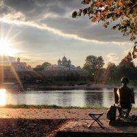 осенний вечер в Великом Новгороде :: Андрей Григорьев