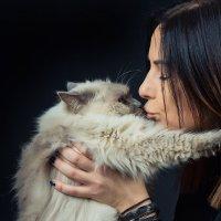 портрет с котом :: Юрий Никульников