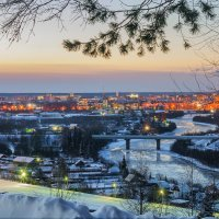 Вид на Ухту с горы Ветлосян. :: Николай Зиновьев