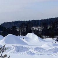 Снежные барханы :: Зинаида Каширина