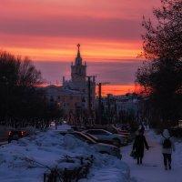 На закате дня, Комсомольск-на-Амуре. :: Виктор Иванович