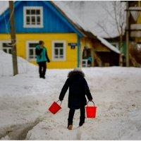 За водой. :: Валентин Кузьмин
