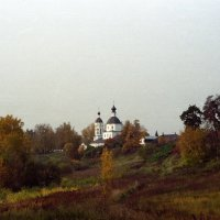 Осенний мотив с Богородицерождественским храмом с. Образцово :: Andrew Barkhatov