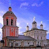 Церковь Иоанна Богослова на Бронной 1652 1665 1694 г.г.  Колокольня 1740 г.г. :: Леонид leo
