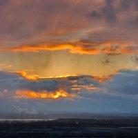 закат  из моего окна :: Валентина Папилова
