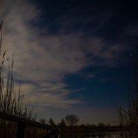 Ночной пейзаж на озере :: Глеб Дубинин