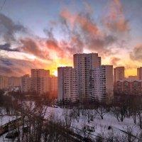 Февральские закаты над Москвой :: Лара Симонова