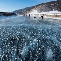 Ледяное поле с пузырьками. Байкал. :: Елена Савчук