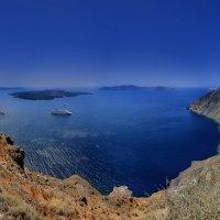 кальдера острова санторин. греция :: юрий макаров