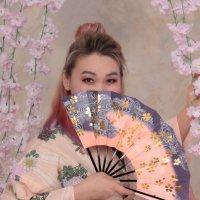 Девушка в кимоно :: Наталья Преснякова