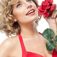 девушка с розой :: Nika Goncharova