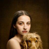 Портрет девушки с собакой :: Alla Rier