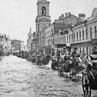 Дата. Наводнение в Москве в апреле 1908 г. Пятницкая ул. :: Евгений Кочуров