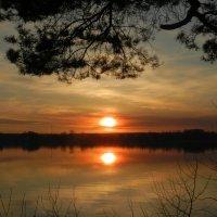Закат над оз. Ломпадь 25.03.20 :: Анатолий Кувшинов