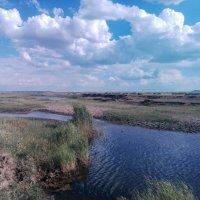 Белые облака,над степной речкой... :: Георгиевич