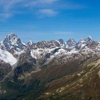 Домбай вид на Ледники Алибекский и Двуязычный ! :: Vadim77755 Коркин