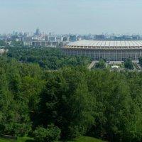 Панорама Москвы с смотровой площадки Воробьёвых гор :: Михаил Силин