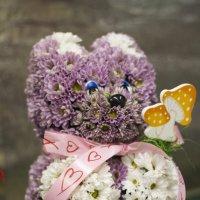 Мишка из цветов :: Екатерина Рябинина