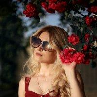 За закате в розах :: Олеся Стоцкая