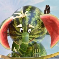 Креативная подача арбуза. :: Лара Гамильтон