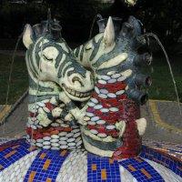Киев, Пейзажная Аллея, Детский сквер — «Фонтан-зебры» :: Absolute Zero