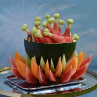 Креативная подача арбуза и дынек на праздничный стол. :: Лара Гамильтон