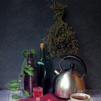 Чай с  ягодной настойкой :: Елена Макарова