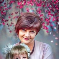 Портрет по фото,коллаж(совмещение двух фото в одну),отрисовка. :: Светлана Кузнецова