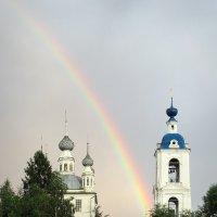 На закате, после дождя, гармония красоты рукотворной и природной :: Николай Белавин