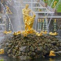 Вода звенящею струёй взметнулась вверх из пасти Льва. :: Андрей Иванович (Aivanovich-2009)