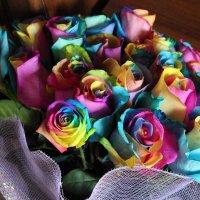 Радужные розы :: Yana Elistratova