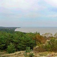 Вид с горы Эффа на пос.Морское и Калининградский залив :: Сергей Карачин