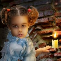 Little princess by the candle. :: Герман