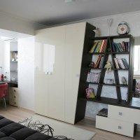 шкаф с этажеркой для книг :: SENATOR шкафы купе